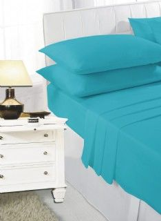 Teal fitted sheet