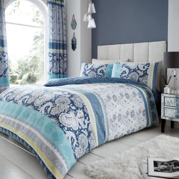 Kira blue duvet cover