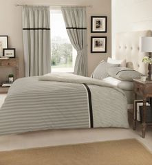 Valeria grey cotton blend duvet cover