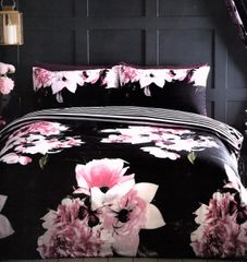 Delia black duvet cover