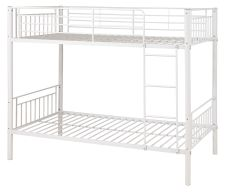 Montreal white single metal bunk beds