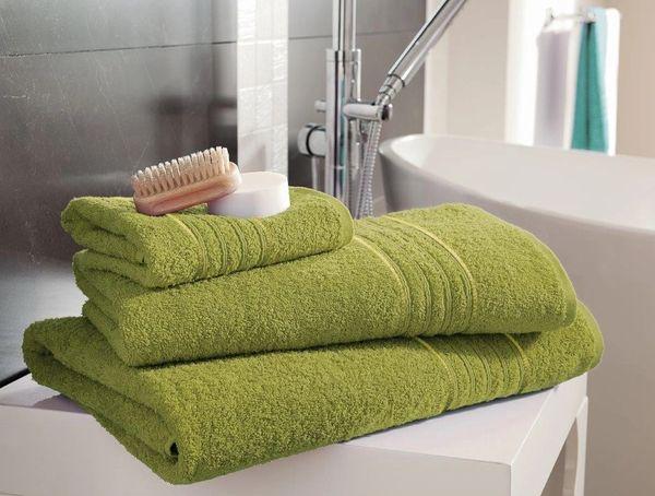 Hampton lime green Egyptian Cotton towels