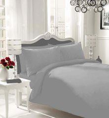 Plain grey flannelette duvet cover