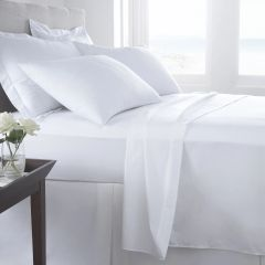 White Egyptian Cotton 400 TC fitted sheet