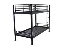 Havana black single metal bunk bed frame
