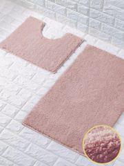 Pink glittery 2 piece bath mat set