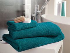 Hampton teal Egyptian Cotton towels