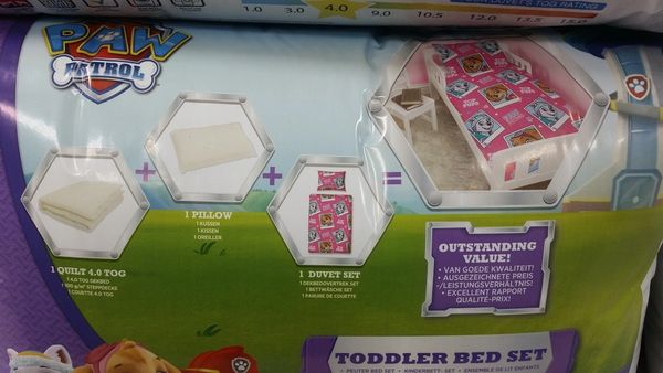 Paw Patrol 4 piece junior cot bed bundle