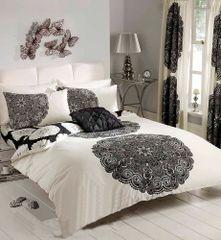 Manhatten cream & black duvet cover