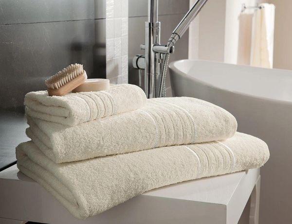 Hampton cream Egyptian Cotton towels