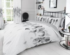 Feathers white cotton blend duvet cover
