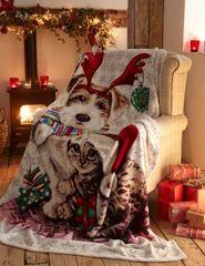 Snowy & Ivy fleece throw / blanket