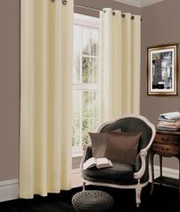 Thermal blackout cream eyelet curtains