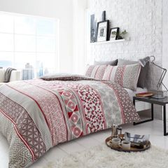 Helsby red duvet cover