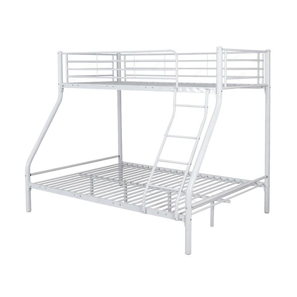 Montreal Triple Metal Bunk Beds White Discount Home Textiles