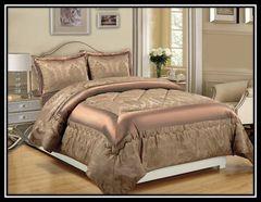 Betty caramel 3 piece bedspread