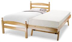 Jersey antique pine wooden single bed frame with guest bed