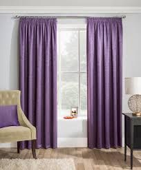 Matrix grape blockout pencil pleat curtains