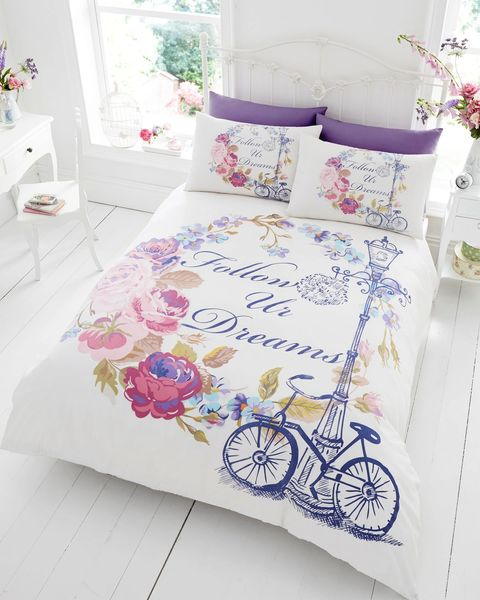 Follow Your Dreams cotton blend duvet cover