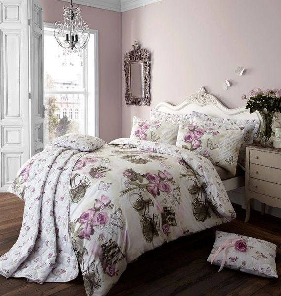 Vintage Dream purple double duvet cover