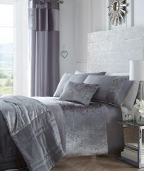 Boulevard crushed velvet grey duvet cover