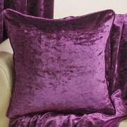 Velva crushed velvet plum cushion cover