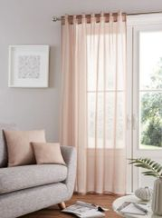 Bali voile natural tab top curtain panel