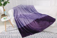 Maddox purple multi tone yarn dye throw