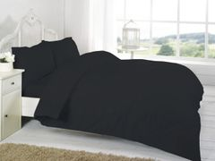 Black Egyptian Cotton 200 TC fitted sheet