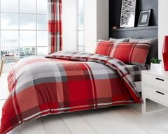 Waverly Check red duvet cover