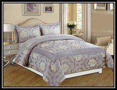 Betty grey 3 piece bedspread