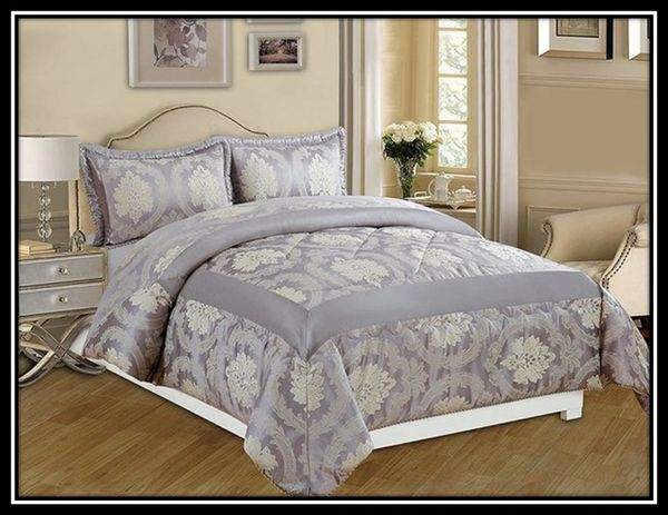 Betty grey 3 piece bedspread