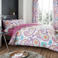 Florance Paisley multi cotton blend duvet cover