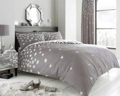 Be Jewelled grey cotton blend duvet cover