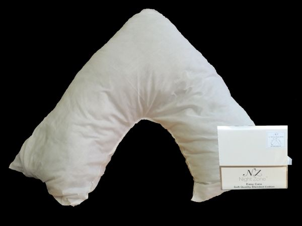 White v shaped pillow case