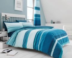 Hudson teal cotton blend duvet cover
