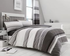 Hudson grey cotton blend duvet cover
