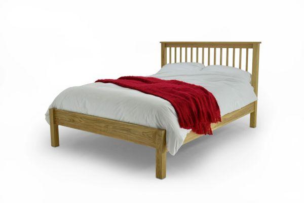 Oakes solid oak bed frame