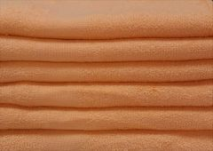 Orange peach 100% cotton hand towels