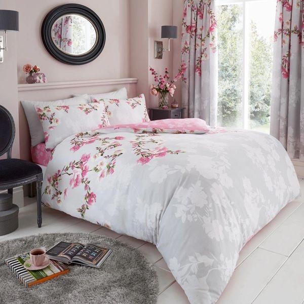 Roseanne grey cotton blend duvet cover