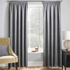Matrix grey blockout pencil pleat curtains