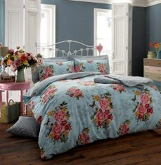 Ava teal duvet cover