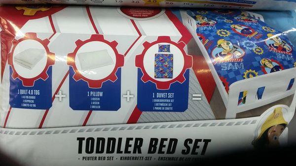 Fireman Sam 4 piece junior cot bed bundle