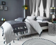 Tassel grey duvet cover