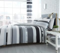 Chester Stripe mono cotton blend duvet cover