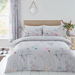 Cecilia grey cotton blend duvet cover
