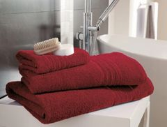 Hampton red Egyptian Cotton towels