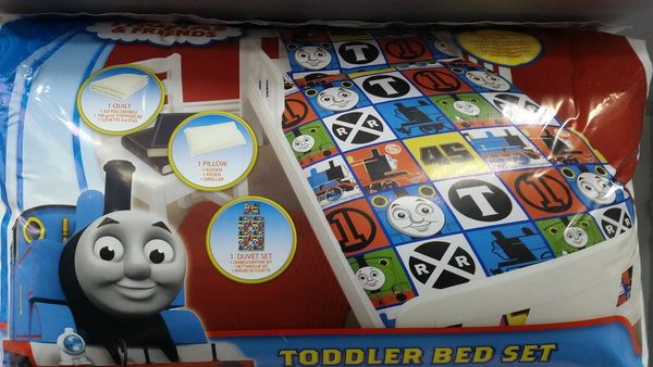 Thomas the Tank Engine 4 piece junior cot bed bundle