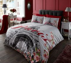 Paris Flower duvet cover