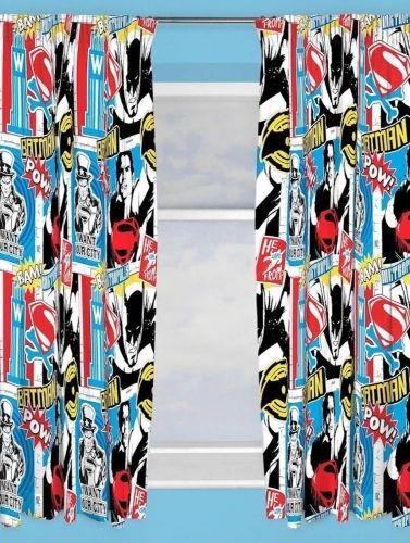 Batman v's Superman pencil pleat curtains